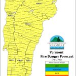 Image for the Tweet beginning: Predicted fire danger for Monday