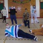 Image for the Tweet beginning: Square dance: Hugh, Matt, Gemma,