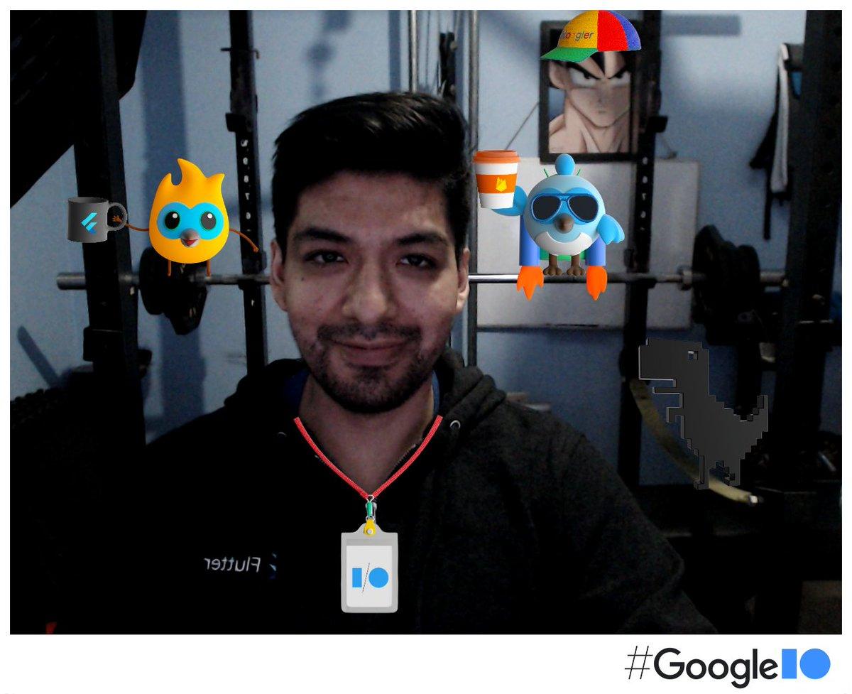 I'm ready #IOPhotoBooth.  See you at #GooglelO!  @EsFlutter #flutter