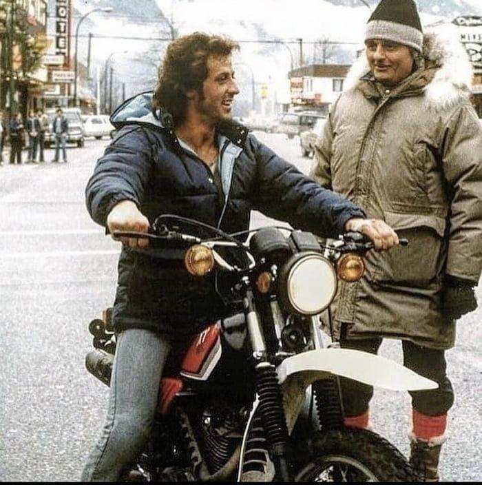RT @sluts_guts: Sylvester Stallone on the set of First Blood - 1982 #backintheday https://t.co/bHycinctzK