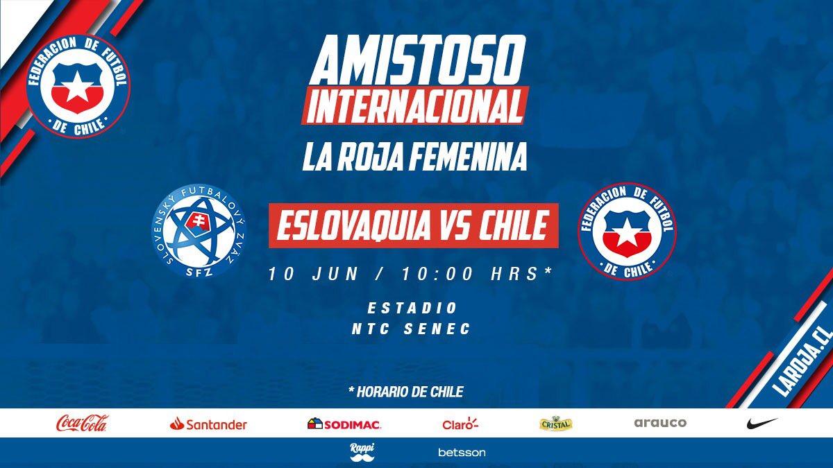 👏 Ya está confirmado el otro rival de #LaRojaFemenina 🇨🇱⚽️ para la Fecha FIFA de junio   🇸🇰 🆚 🇨🇱 📆 10 de junio  ⏰ 10:00 horas de Chile  🏟 NTC Senec   🔗 https://t.co/99xJO7nLSg  #VamosLaRoja #SeleccionChilena #LaRoja https://t.co/YZslE5T9nk