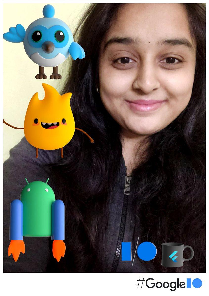 Just took a selfie at the #IOPhotoBooth.  See you at #GooglelO photobooth.flutter.dev/share/cbb13438… @TechPowerGirls1 @KelkarRenuka @imthepk @Google @nlycskn @FlutterDev @googledevgroups @GoogleDevsIN