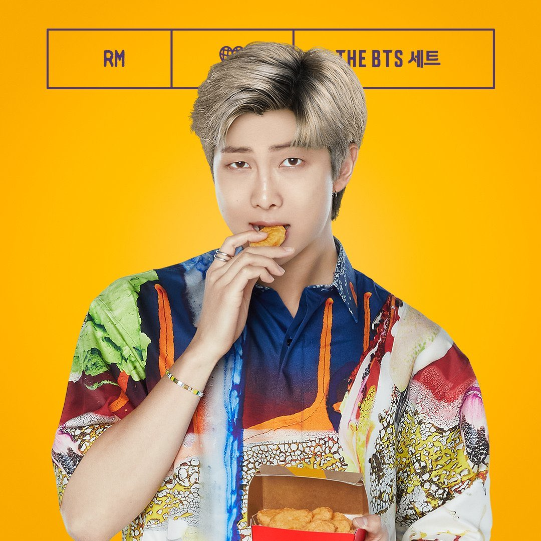 Namjoon, please explain this. Nobody looks this sexy and cool when they eat. Definitely not when they're eating at McDonald's. It's yummy but messy!! So... care to explain, sir? We're listening.  #BTSMeal #BTS #BTSxMcDonalds #ARMY #RM #Namjoon #KimNamjoon