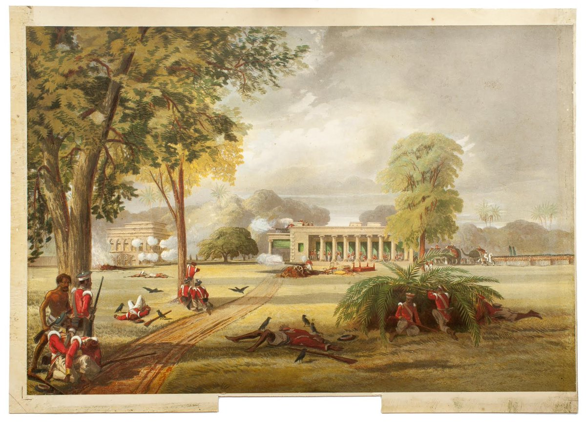 The defence of Arrah house 1857  A mixture of civil servants, Engineers and Sikh policemen totalling less than 70 fortify a Billiards hall and successfully hold off 3,000 mutineers. After a great struggle Imperial forces break the siege seven days later.  https://t.co/C8haUwkkiH https://t.co/onWT3Orjb9