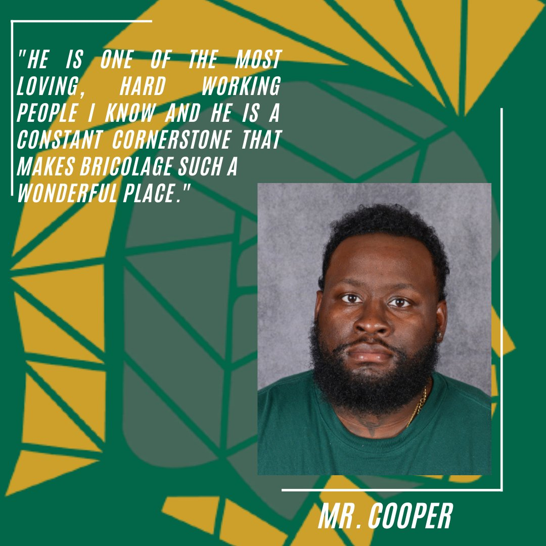 It's Teacher & Support Staff Appreciation Week at Bricolage!!!  Thank you Mr. Cooper for all you do for our Bricolage Community and thank you Karen K. for sharing. https://t.co/m6VuWBqFbg