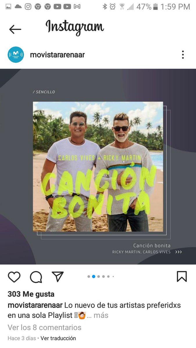 @MovistarArenaAR  Instagram: @carlosvives @ricky_martin #CancionBonita @RMwebteam @lonuestrofc