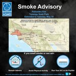 Image for the Tweet beginning: AIR QUALITY ADVISORY UPDATE (Monday,
