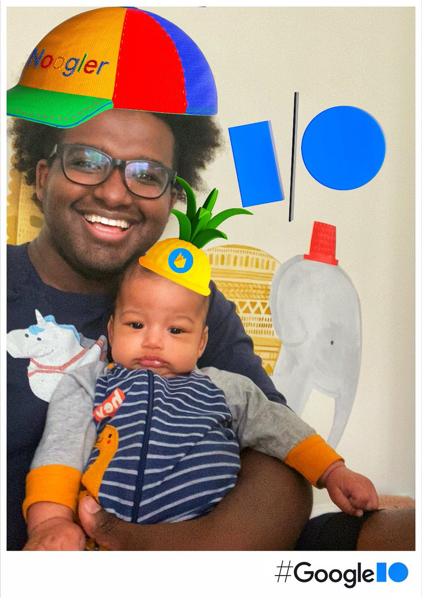 The two types of developers at any conference. The bright-eyed dev excited about all the innovation and the seasoned vet thinking about what they'll need to change to incorporate it.  See you tomorrow at #GoogleIO #IOPhotoBooth