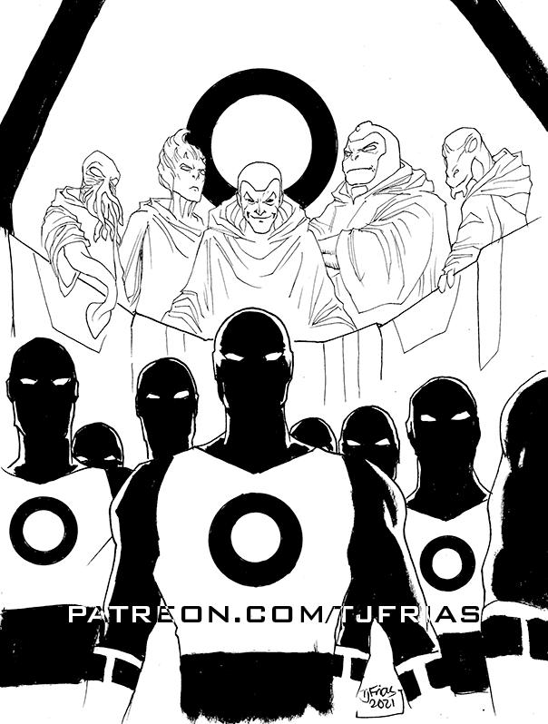 #dccomics' #whoswho Vol 1 Issue 6 Part 1  #DarkCircle  #DarkOpal  #Darkseid  #Dawnstar