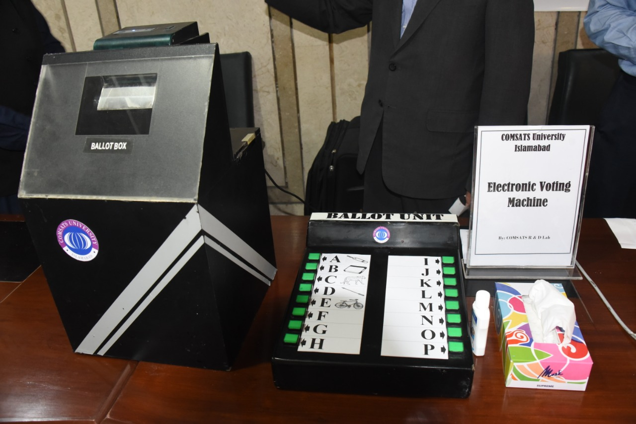 """National Assembly of Pakistan🇵🇰 on Twitter: """"M/o Science & Technology  has established a Electronic Voting Machine(EVM) exhibition corner in the  Parliament House. A designated Technical Officer has been deployed to  demonstrate it"""