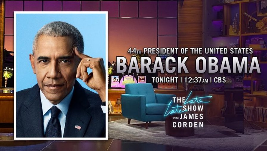 On tonight's @latelateshow we chat with @BarackObama and have a performance from @KELLYROWLAND @cbs 12.30 x x x https://t.co/UFgWLZYdLa