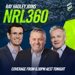 Boys better bring their A-game! Don't miss Ray Hadley's #NRL360 debut tonight at 6:30 pm on Ch 502 🔥