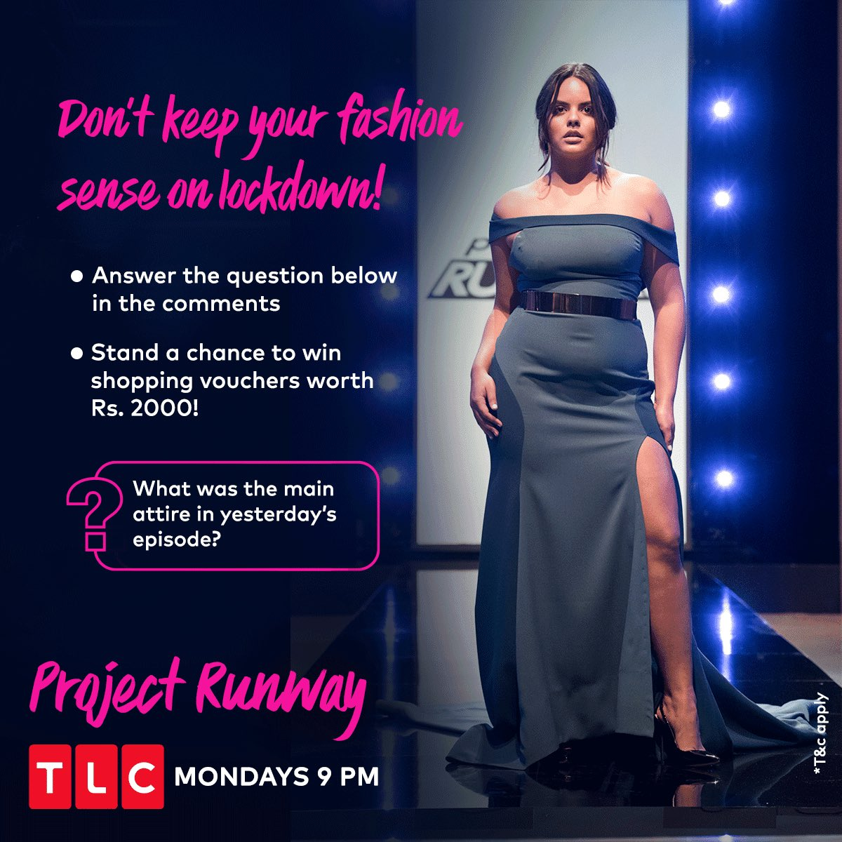 #ContestAlert Set the shopaholic in you loose #TLCFashionProject! Simply answer the above question by watching Project Runway on #TLCIndia and stand a chance to win shopping vouchers worth Rs. 2000. Keep your eyes peeled! #TLC #TLCFashionProject https://t.co/dwPLo9gql3