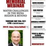 "Image for the Tweet beginning: A memorial webinar on ""Water"