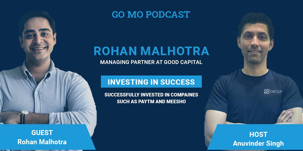 This week's #podcast features Anuvinder Singh hosting an insightful Q&A session with @R0hanMalhotra  Managing Partner of Good Capital, a Venture Capitalist firm; to get insights on how VCs evaluate companies, upcoming business opportunities, and much more!! https://t.co/w6tq2CeF6i
