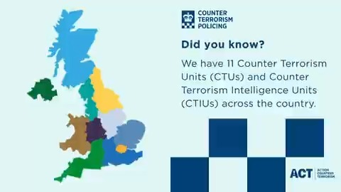 #FactFriday ❓ We have 11 Counter Terrorism Units and Counter Terrorism Intelligence Units up and down the country, not just in London.  These units collaborate daily to ensure that the UK is safe from the threat of terrorism. https://t.co/2lQob8HekZ