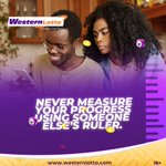 Image for the Tweet beginning: Never measure your progress using