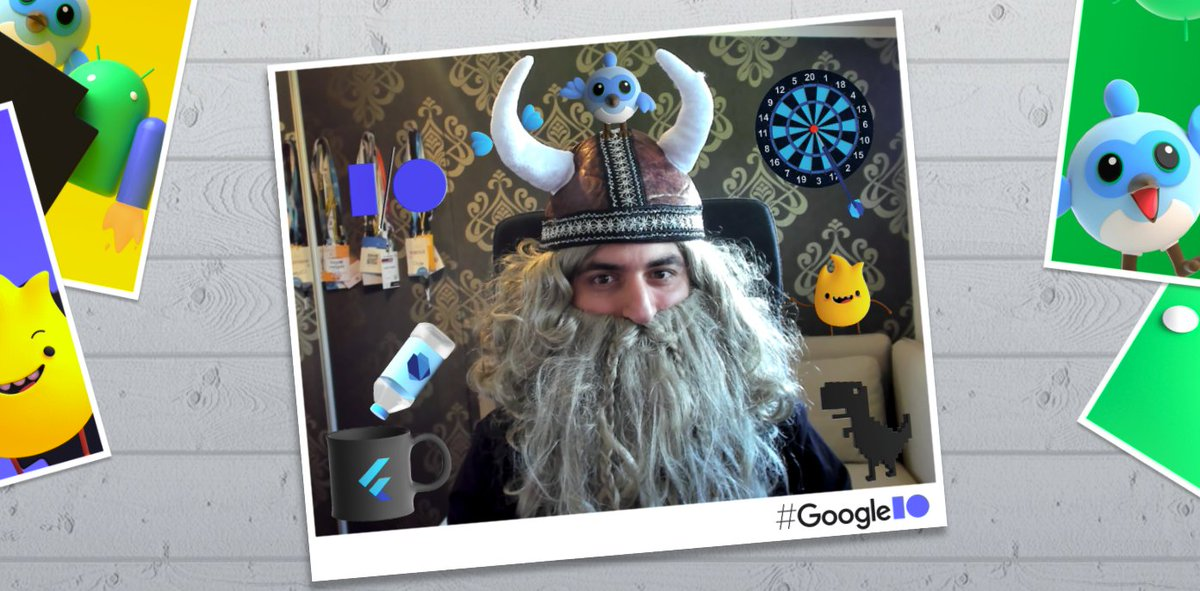 Better late rather never!  I joined the party #GoogleIO! This is an amazing example of #Flutter web + #Firebase by my awesome friends @VGVentures   #IOPhotoBooth is still open!  -> photobooth.flutter.dev  photobooth.flutter.dev/share/8b9cc2dc…
