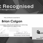 Image for the Tweet beginning: Congratulations to Brian Colgan, the
