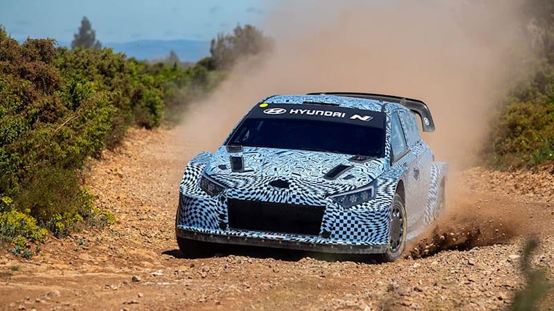 Hyundai begins testing i20 N hybrid WRC race car