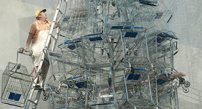 #ThingsYoullNeverSeeInAMuseum Shopping cart art.