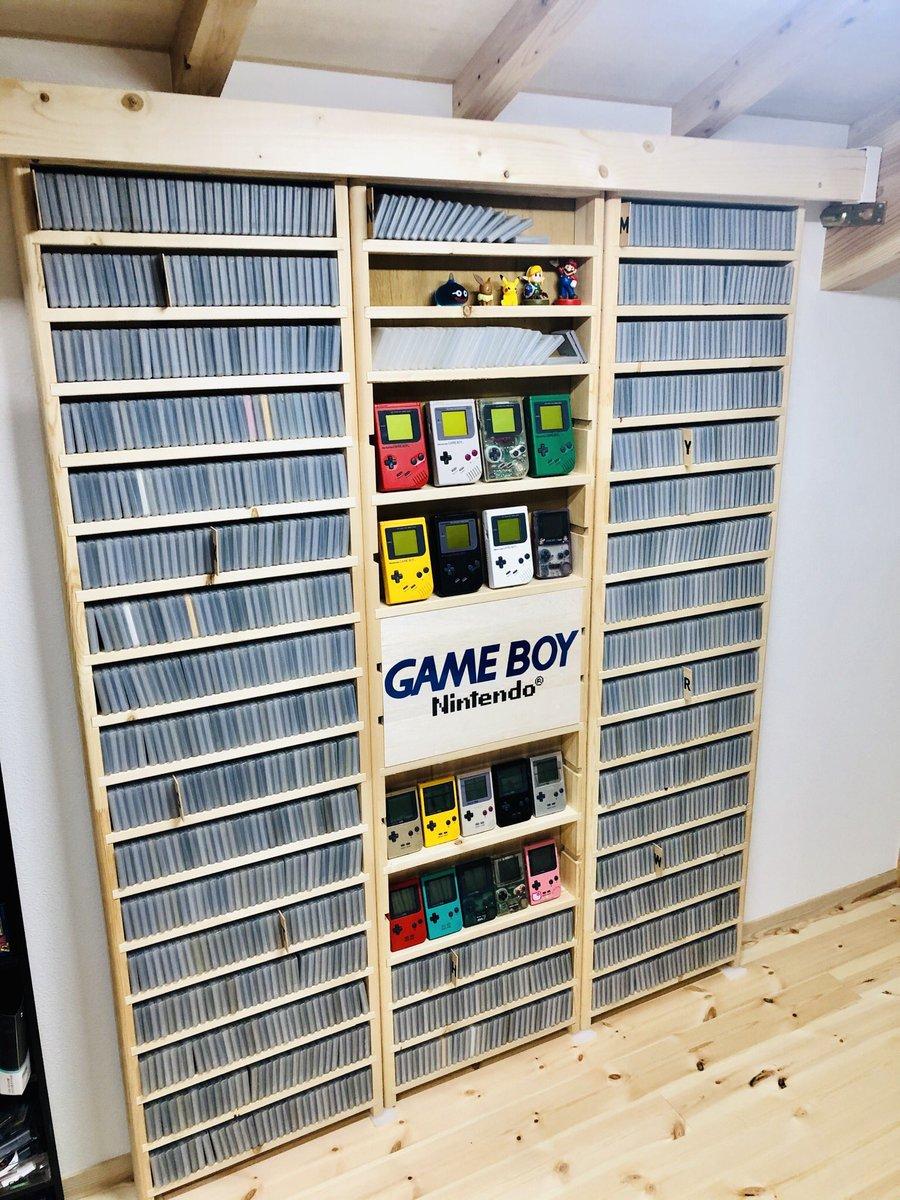 コンプまで残り8本!?ゲームボーイのソフトが詰められた棚!