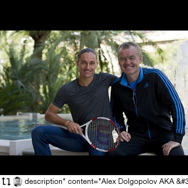 Hey Ukraine🇺🇦 , will you make a postage stamp of this dad and son who contributed to Ukrainian tennis very much?😁 *Dad was publicly recognized for that #thedolgo #dolgopolov #ukraine  #TuesdayFeeling