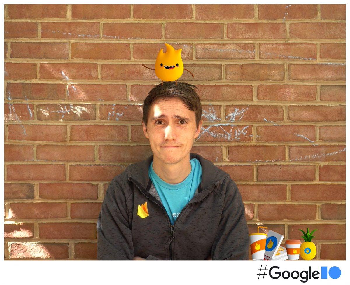 I got a sparky on my head.   #GoogleIO2021 #IOPhotoBooth