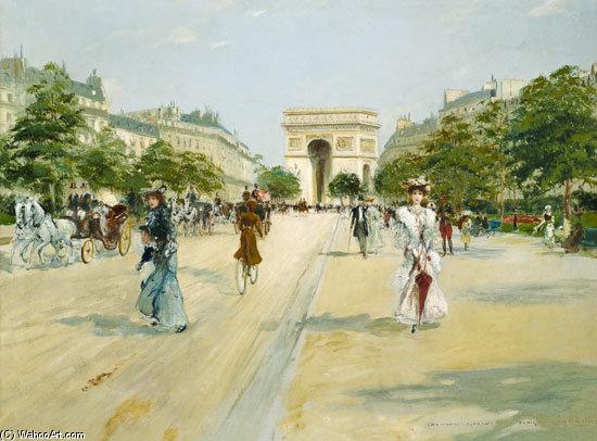 RT @ParisAMDParis: Georges Stein.  Avenue du Bois de Boulogne  #Paris #painting https://t.co/ialco5YD0c