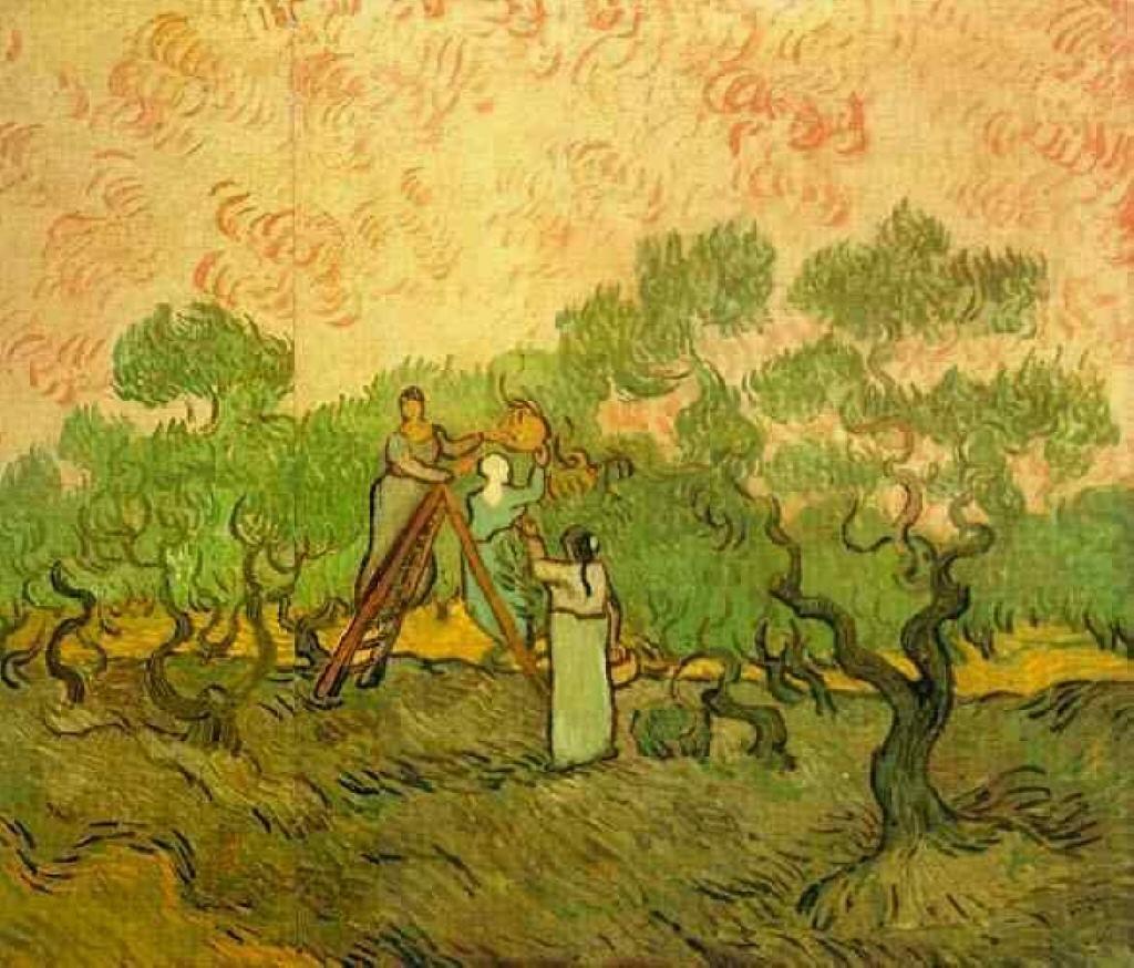 RT @themontmarte: Olive Picking, 1889 #vincentvangogh #postimpressionism https://t.co/P3eWCg5kbr
