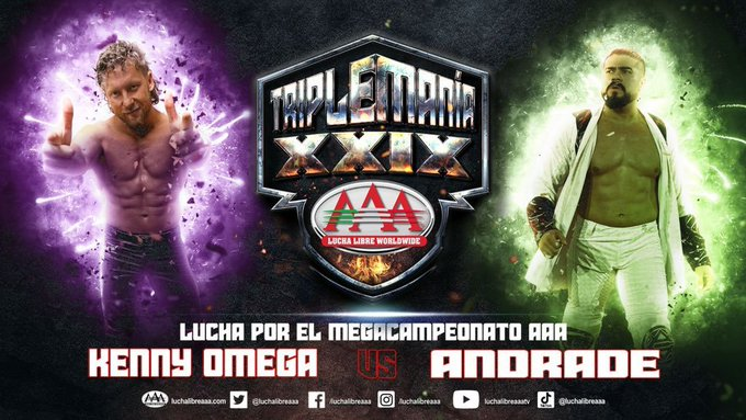 Andrade Vs. Kenny Omega Officially Announced For TripleMania XXIX