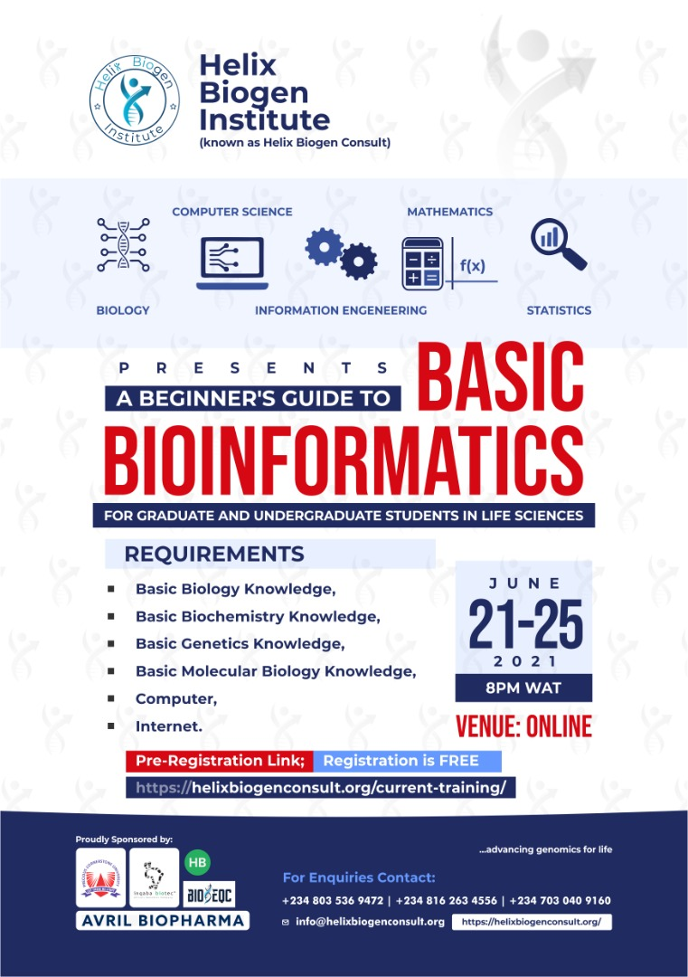 Looking for opportunities to learn Bioinformatics? Maximize this!   Registration is free. https://t.co/nW3tM5cNZr