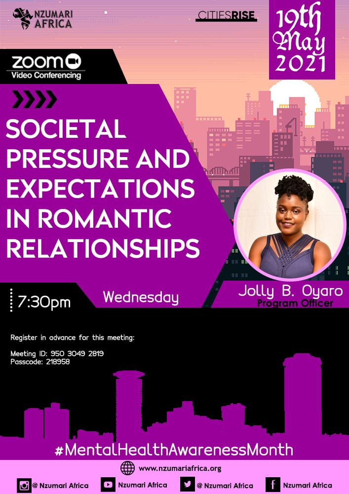 Join us tomorrow as we host youths to give their inputs on societal pressure & expectations especially in romantic relationships & how this affects them & their mental health.  Registration link👇 https://t.co/TkNctMNvxV @zachjuliu @gkasiva @She_Joy_ @colly_collo @Sarah_0lunga https://t.co/V72hrqYZN5