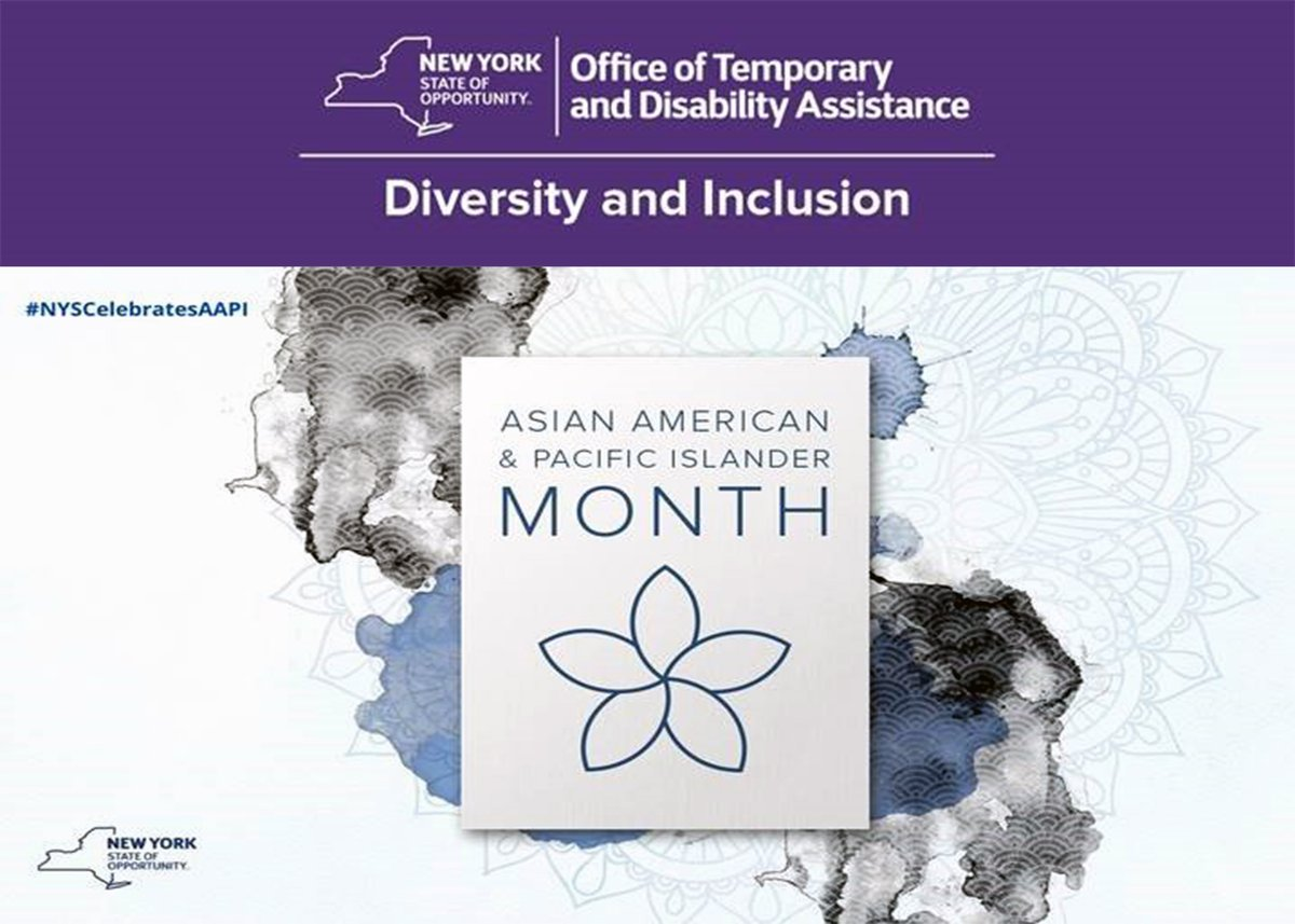 May is Asian American and Pacific Islander Heritage Month. In recognition of #nyscelebratesaapi  and in conjunction with @NYSHumanRights, OTDA's Bureau of Refugee Services is participating in a public listening session on issues impacting this community: https://t.co/zOJERlgrny https://t.co/ug5vIBo7TJ