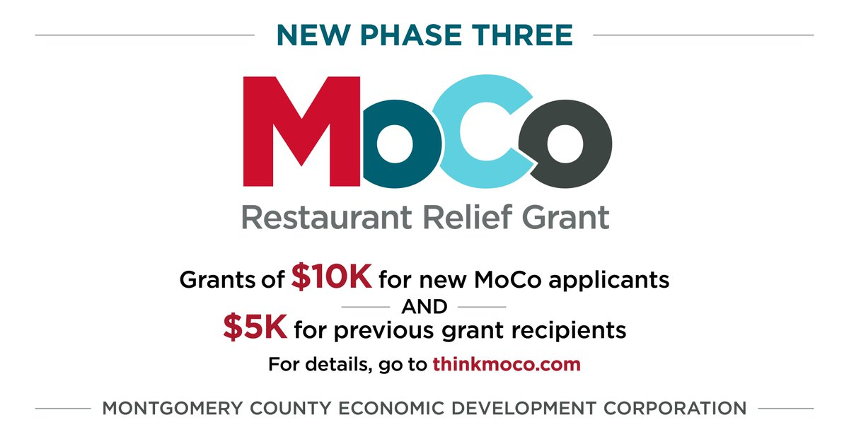 📣Applications for the Restaurant Relief Fund open at 10 a.m. tomorrow: https://t.co/A0TrceiTNY.