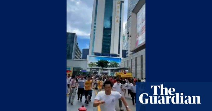 People flee in panic as 300-metre skyscraper wobbles in China – video Photo