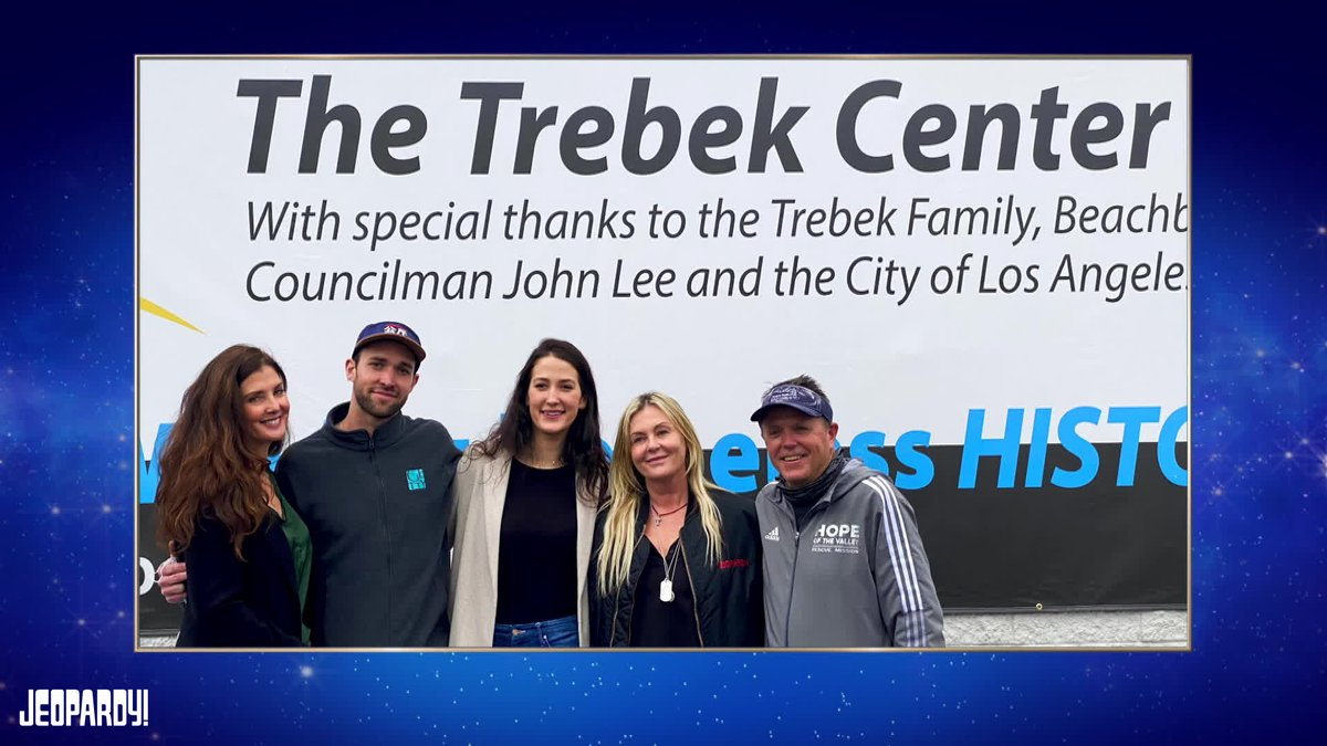 Many know the Alex of our screens. As equally big a mark is the incredible philanthropy of Alex and Jean Trebek. Their contributions in our shared home city and around the country bettered the world. I'm proud to be announcing @Jeopardy 's match to @hopeofthevalley Trebek Center. https://t.co/liaN8en8n7