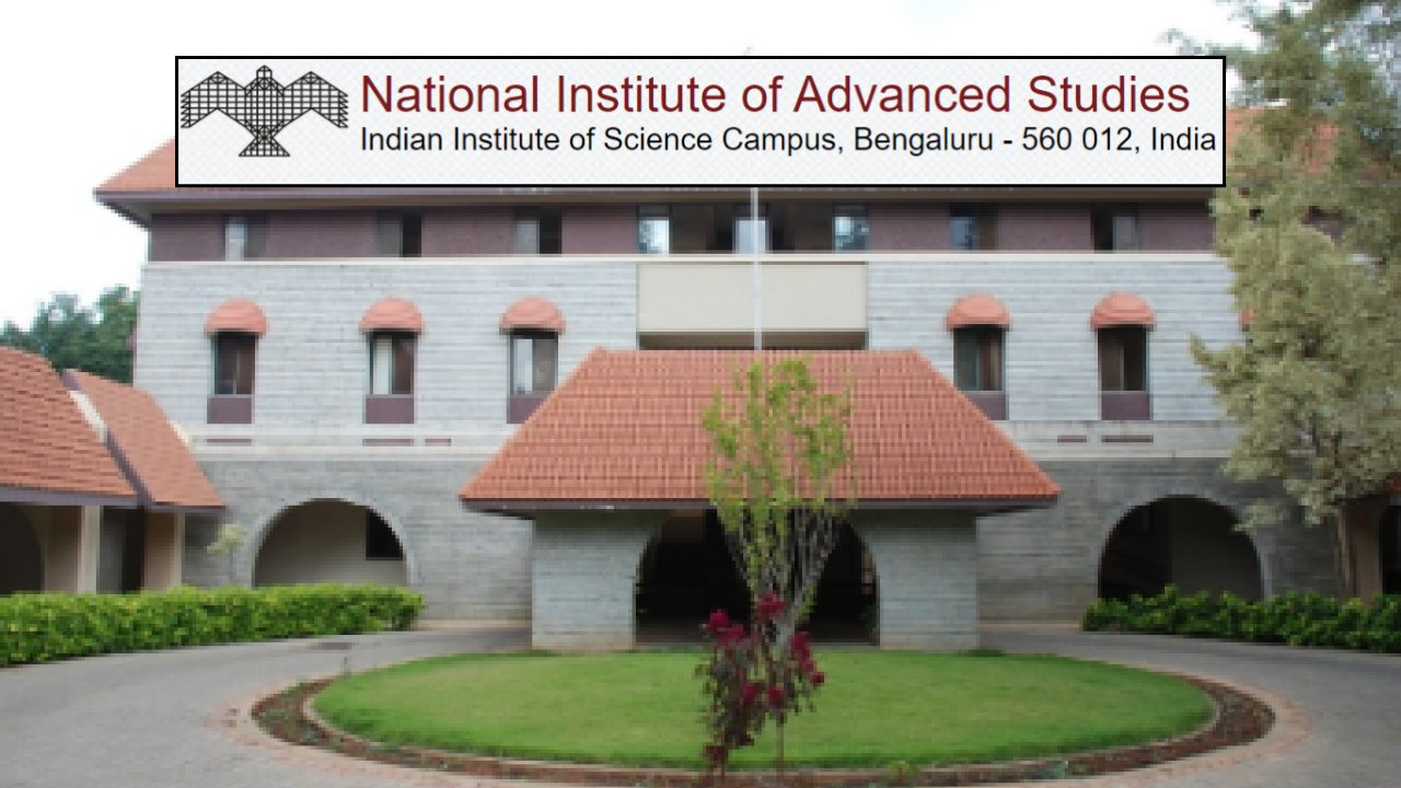 Call for Applications by National Institute of Advanced Studies, Bengaluru