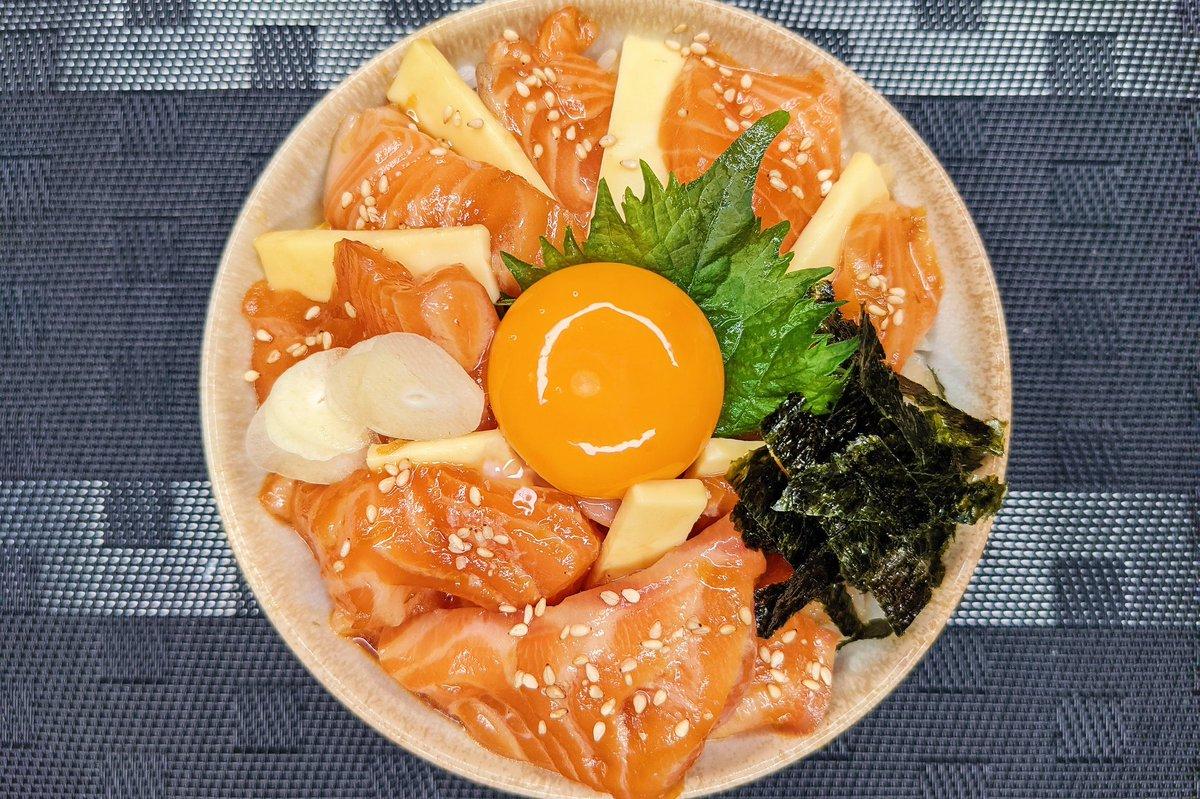 サーモンの新たな美味しさを発見!?「サーモンガーリック漬け丼」の作り方!