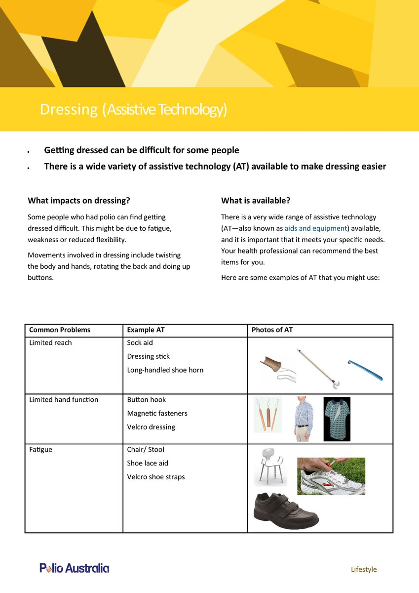 📢ℹ Two new fact sheets on Assistive Technology: 1) Aids and Equipment for Dressing 2) Aids and Equipment for Eating and Drinking  🔗https://t.co/hLB4Bhymx1