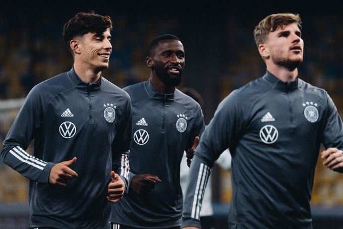 Tiga pemain Chelsea di Timnas Jerman Kai Havert, Rudiger dan Timo Werner