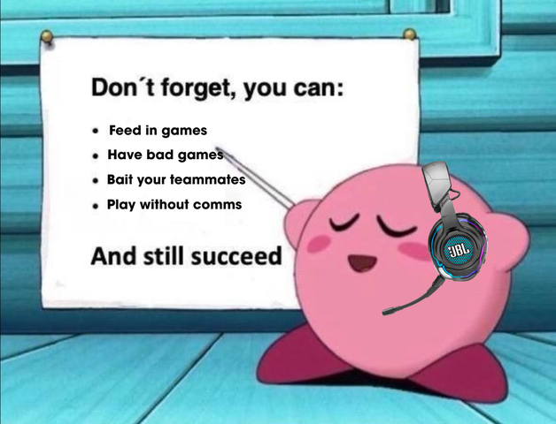 Nobody can play perfectly 100% of the time, that doesn't mean you won't succeed