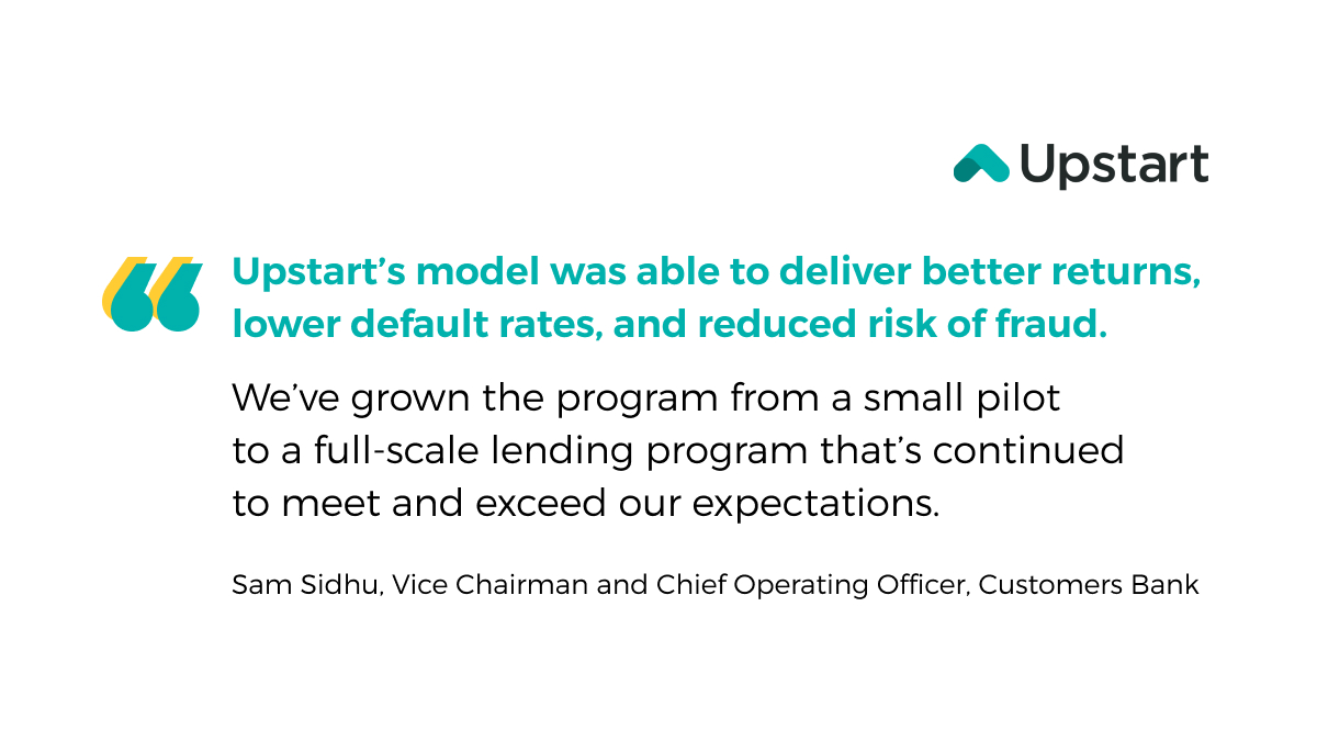 test Twitter Media - Through our AI lending platform, @CustomersBank offered better & faster risk-based credit decisions while approving more creditworthy borrowers.  With the goal of providing effortless credit based on true risk, we're excited to continue & grow our partnership with @CustomersBank. https://t.co/x7ftjxCxVK