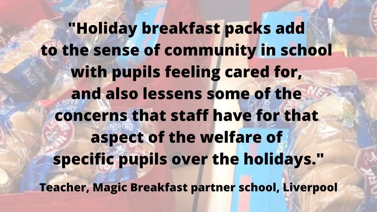 We've just surveyed our partner schools about our holiday breakfast provision. More children have been arriving at school hungry & our holiday food has been a lifeline for many families.   Please help if you can: https://t.co/jPA3G4ImCl  #NoChildTooHungryToLearn https://t.co/vgXc2e1TwD