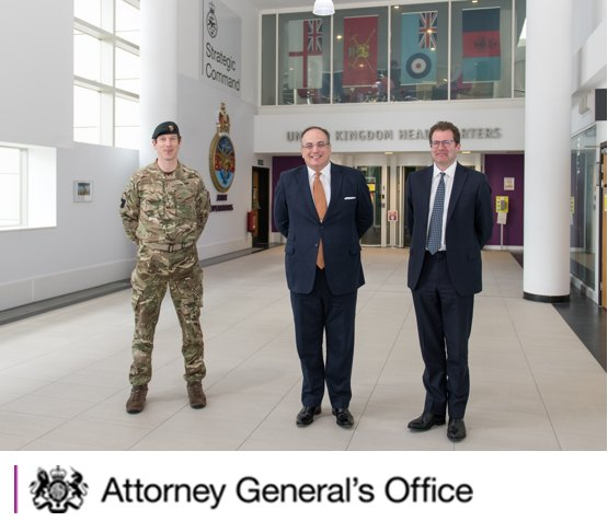 The Attorney General visited the Permanent Joint Headquarters @DefenceOps today where he met military personnel and colleagues from @UKCivilService to discuss how overseas military operations are planned and controlled.