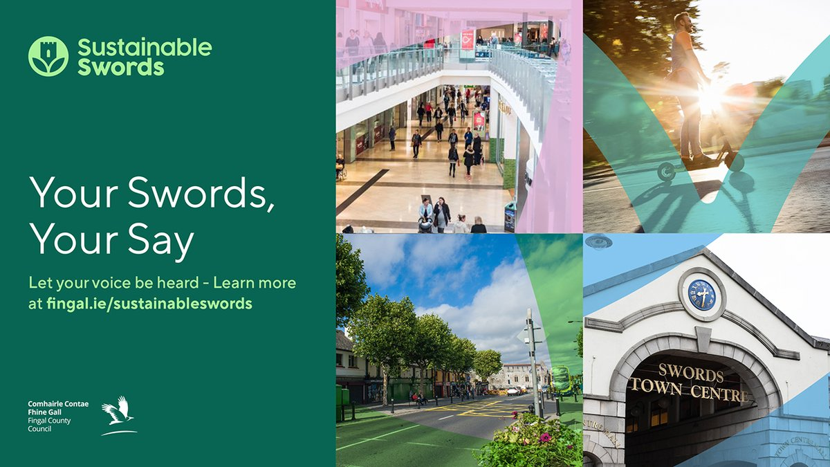 As the branding agency working in partnership with @Fingalcoco,  @FACIreland and @turnertownsend on this exciting project, we're helping to create a more sustainable vision for Swords.  #branding #sustainableswords #marketing #business #fingal #dublin #regeneration #planning