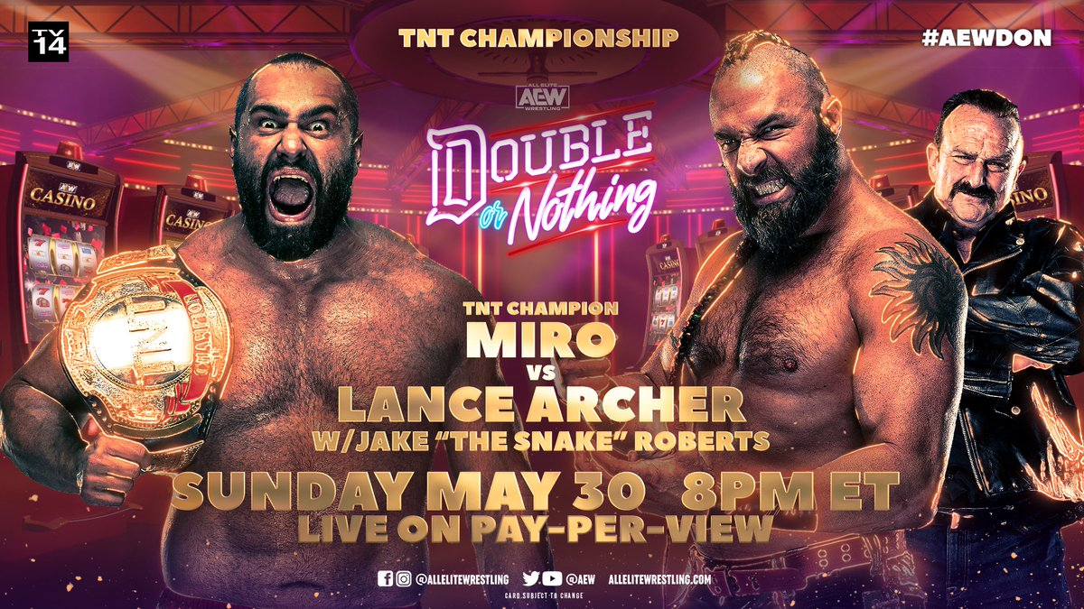 Miro To Defend TNT Title At AEW Double Or Nothing