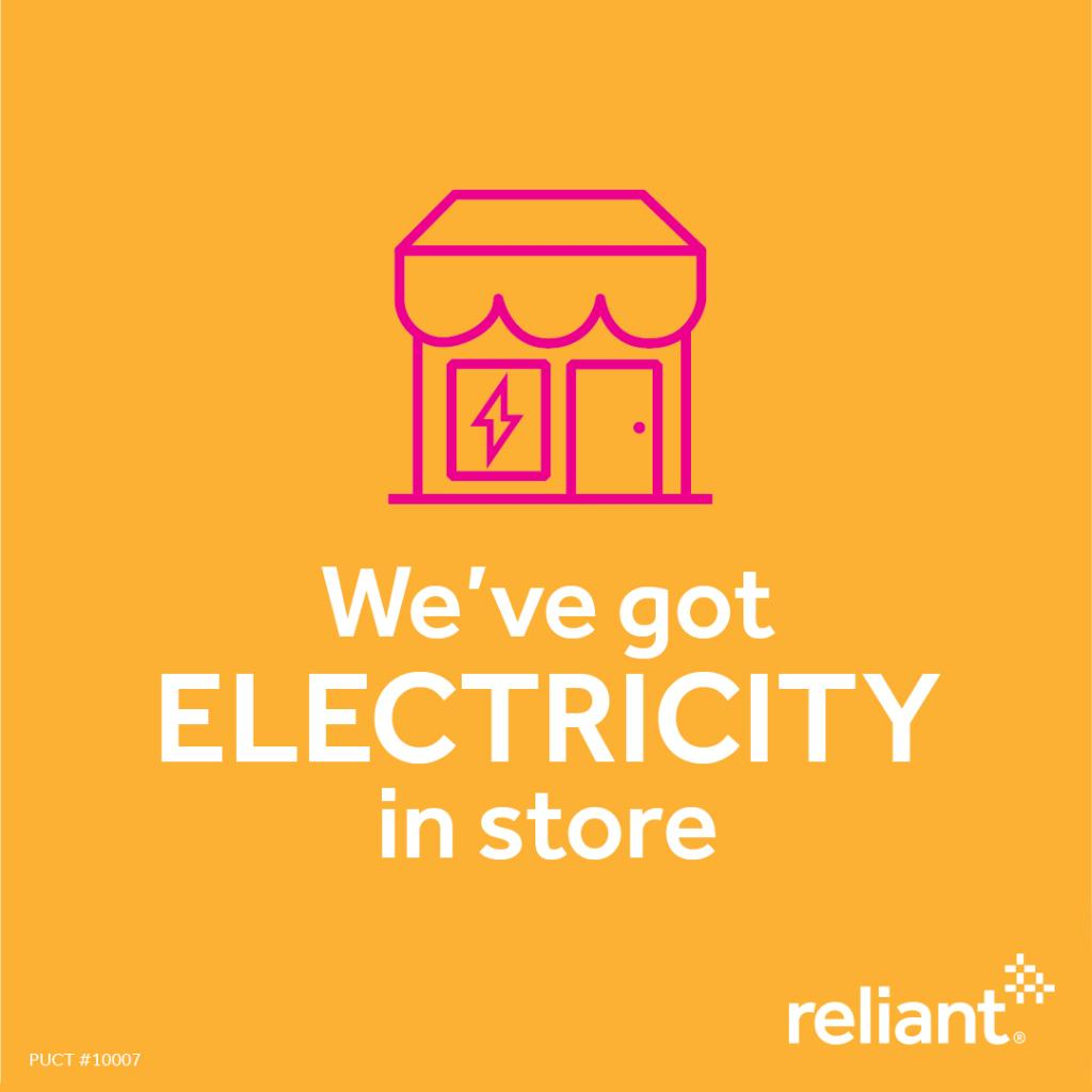 Making out your grocery list? Then make sure to add Reliant electricity. You'll find our retail locations in stores all across Texas. Stop in, say hi and ask our experts about an affordable electricity plan that's right for you. Find a location near you: https://t.co/UCChaZuMaE https://t.co/o4cxpOxFaG