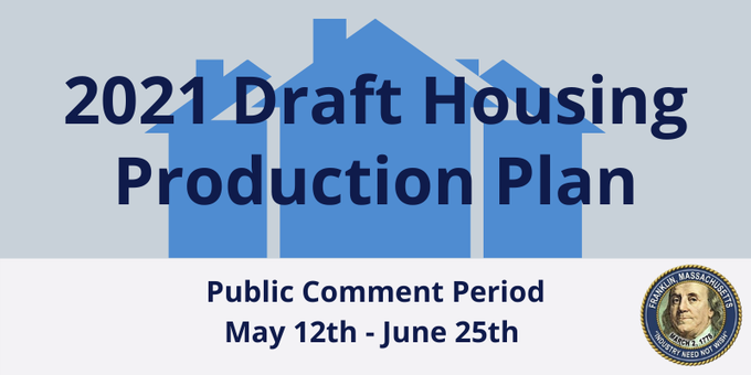 2021 Draft Housing Production Plan open for Public Comment through June 25, 2021