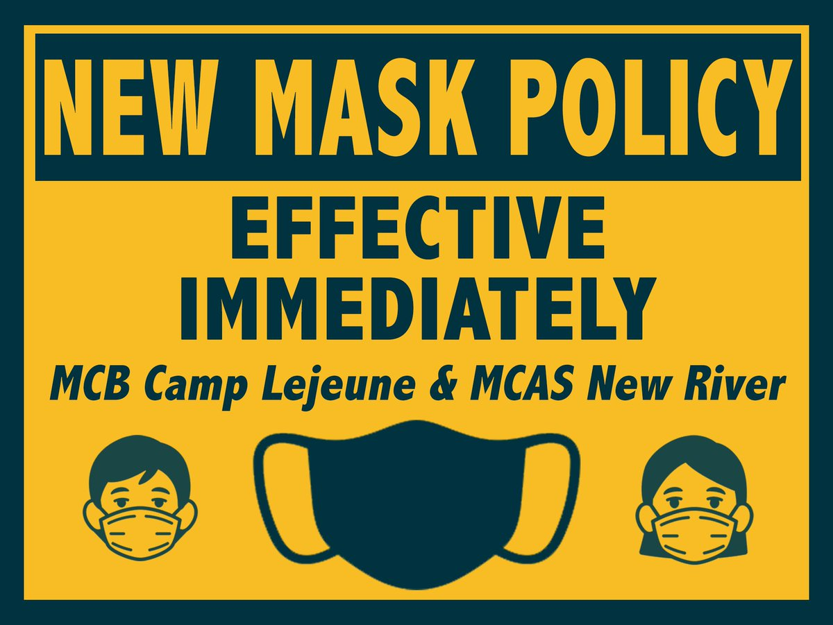 Per updated Center for Disease Control and Prevention (CDC) guidelines, subject to applicable labor relations obligations, fully vaccinated DoD personnel (at least two weeks beyond their final dose) are no longer required to wear masks indoors/outdoors at MCIEAST facilities. https://t.co/ex8QmQPQbR